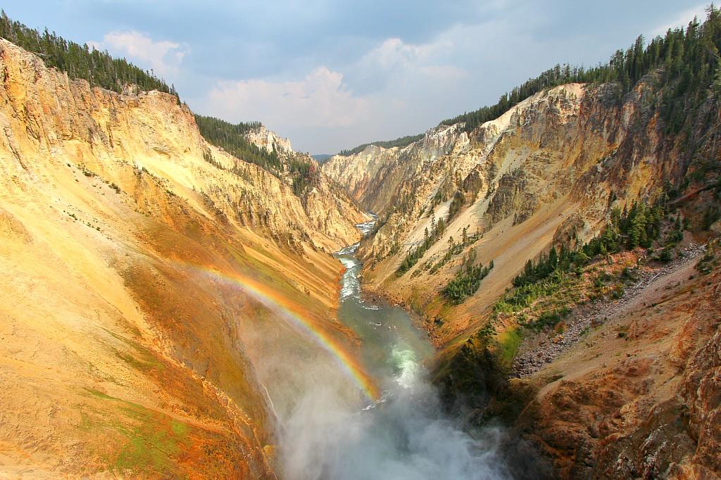 Yellowstone national park come organizzare la visita for Grand canyon north rim mappa della cabina