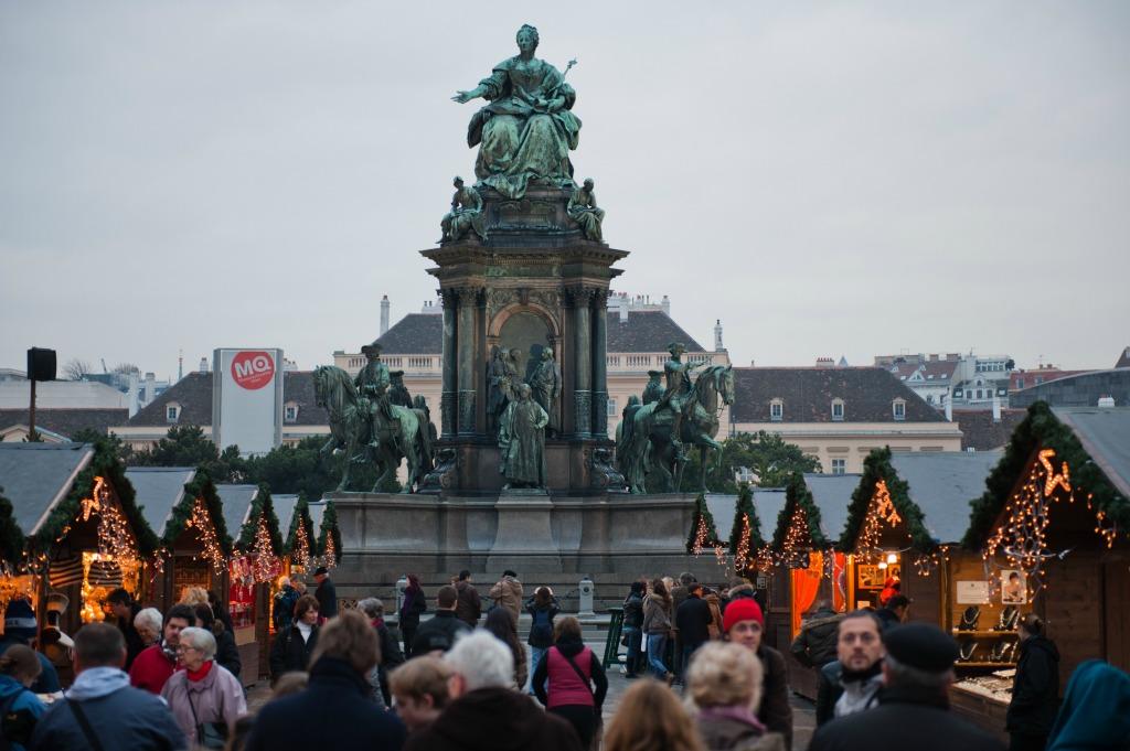 Queen Maria Theresia Monument. Vienna, Austria, Western Europe.
